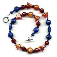 Lapis Carnelian Necklace