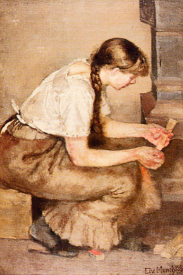 Edvard Munch, Girl Kindling Stove