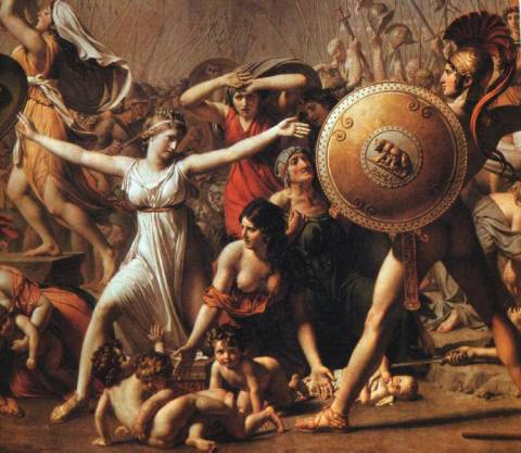Rape of The Sabine Women, Jacques-Louis David, 1799