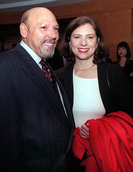 August Wilson & wife, Constanza Romero
